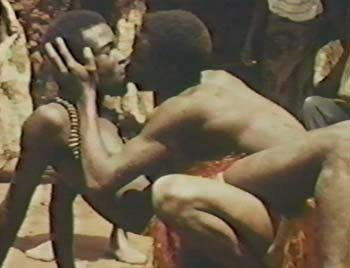 Afrikan Male Warriors Kissing
